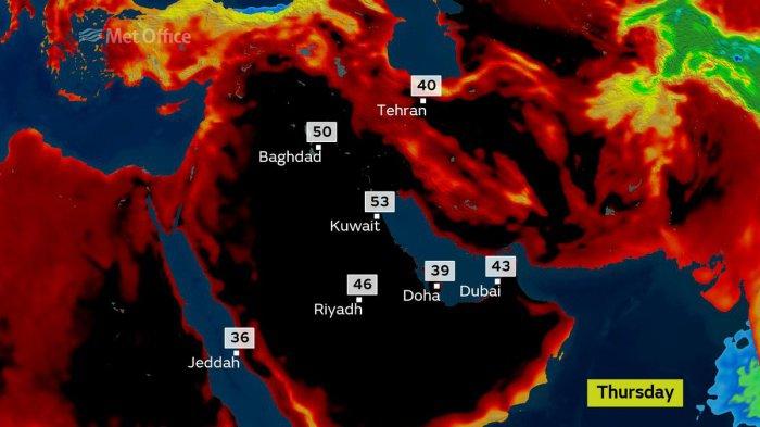Так выглядит адская жара