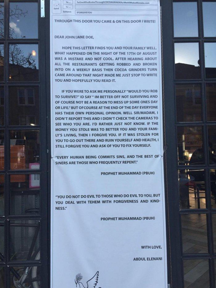 Мусульманин поразил окружающих реакцией на ограбление своего кафе