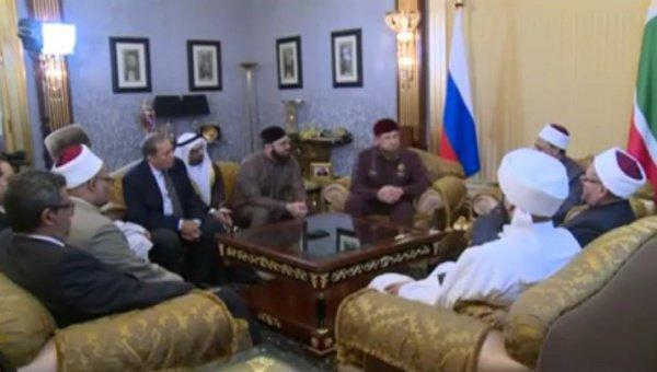 Встреча Рамзана Кадырова с делегацией Египта.