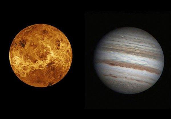 Рандеву Юпитера и Венеры