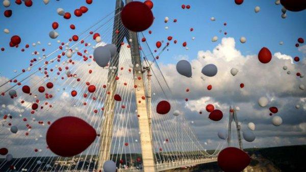 ВСтамбуле открыли новый мост через Босфор