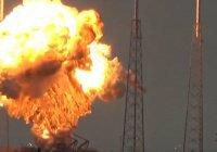 Взрыв ракеты Space X на старте (ВИДЕО)