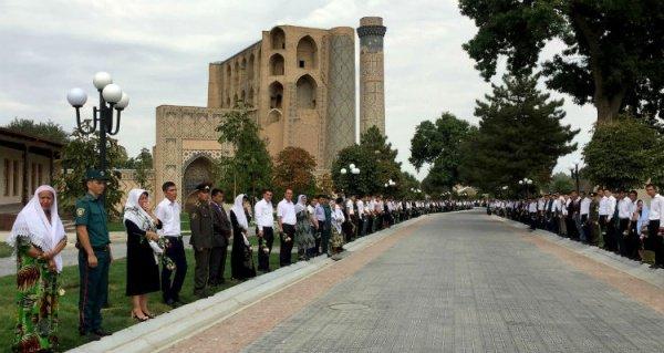 Мемориал с могилой Ислама Каримова.