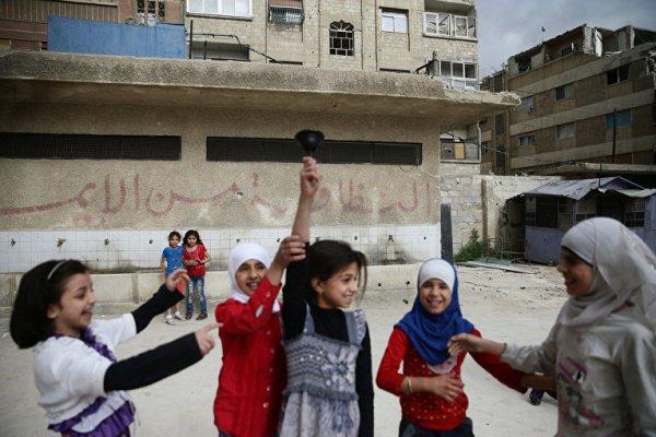 Сирийские школьники начали новый учебный год.