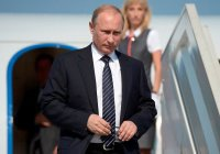 Владимир Путин возложил цветы к могиле Ислама Каримова