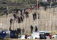 Мигранты несколько часов провисели на шестиметровом заборе (Видео)
