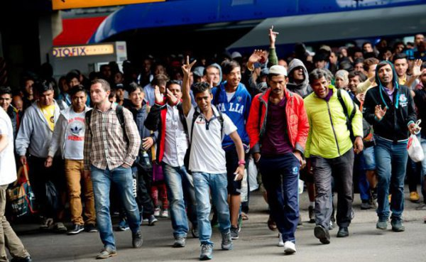 Сирийские беженцы в Европе.