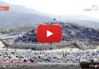 Потрясающий вид горы Арафат в один из главных дней в году
