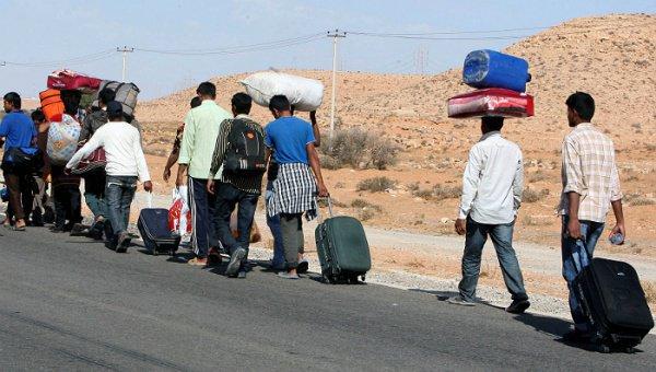 Беженцы в Ливии.
