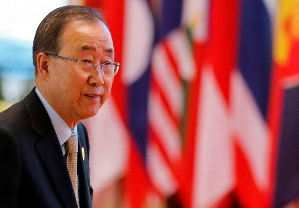 Генсек ООН Пан Ги Мун.