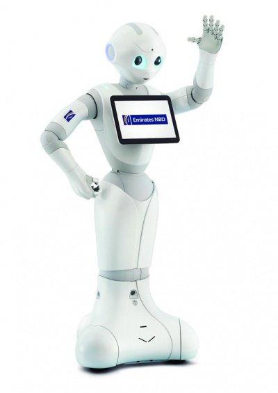 Робот - банковский служащий.