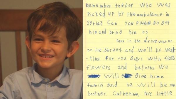 6-летний житель америки предложил Обаме принять сирийского ребенка всвою семью
