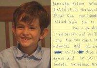 6-летний Алекс из США написал потрясающее письмо для сирийского мальчика