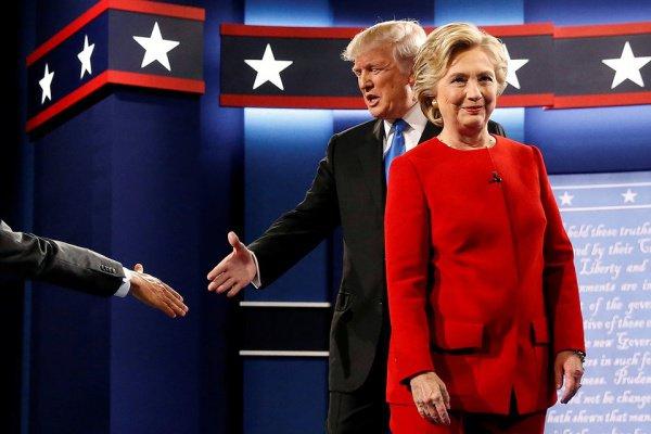 Трамп объявил опобеде втеледебатах сКлинтон
