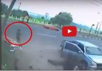 Жуткие кадры: на месте гибели мотоциклиста появилась его душа