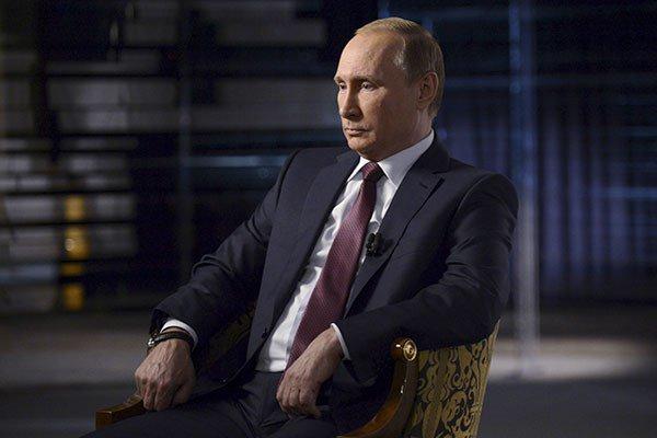 Владимир Путин в ходе интервью.