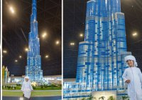 Знаменитую башню Бурдж Халифа собрали из кубиков Lego