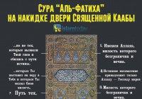 А вы знаете, какая сура Корана изображена на накидке двери Священной Каабы?