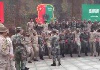 Китайские солдаты станцевали арабский танец с саудовскими коллегами (Видео)