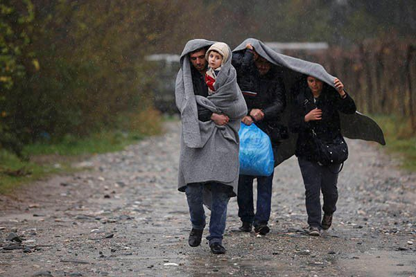 Беженцы с Ближнего Востока.