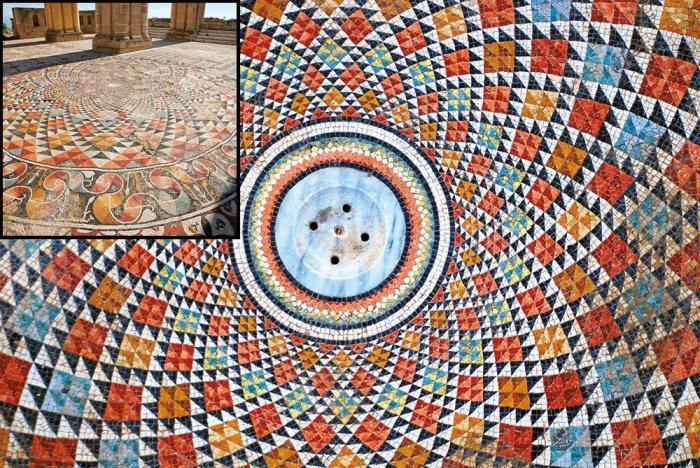 Поразительная мозаика на руинах величайшей загадки Иерихона - дворца мусульманского халифа