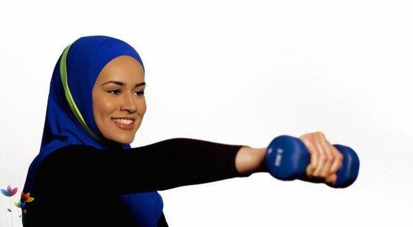 Фитнес-зал для мусульманок.