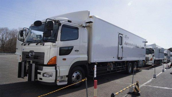 Беспилотный грузовик.