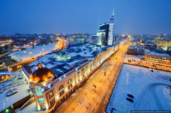 Зима в Казани.