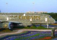 В Дубае представили полноразмерную копию А380, выполненную из цветов (Видео)