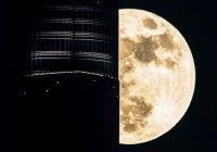 Поразительные кадры: Бурдж Халифа на фоне гигантской луны