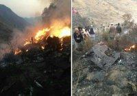 В Сеть попали первые фото с места крушения пакистанского лайнера