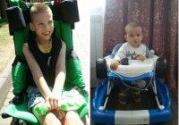 «Солнышко мое, вставай»:  3-летний Данияр и 10-летний Саша хотят ходить