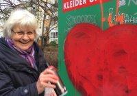 70-летняя жительница Берлина объявила войну исламофобским надписям