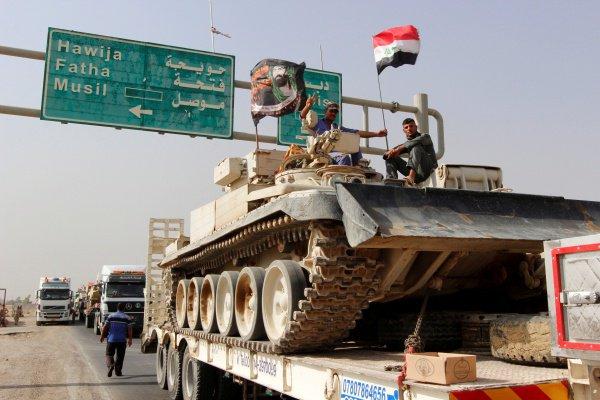 Иракские войска направляются к Мосулу.