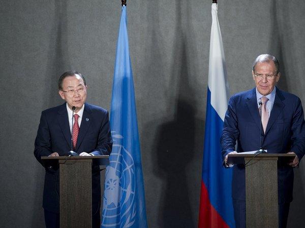 Пан ГиМун высоко оценил вклад Российской Федерации вобеспечение мира ибезопасности