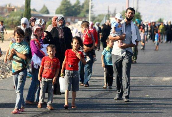 Беженцы в Европе.