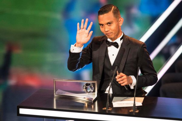 Мохд Фаиз Субри на церемонии ФИФА.