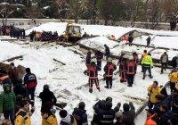 Аномальный снегопад в Стамбуле привел к трагедии в мечети (Видео)