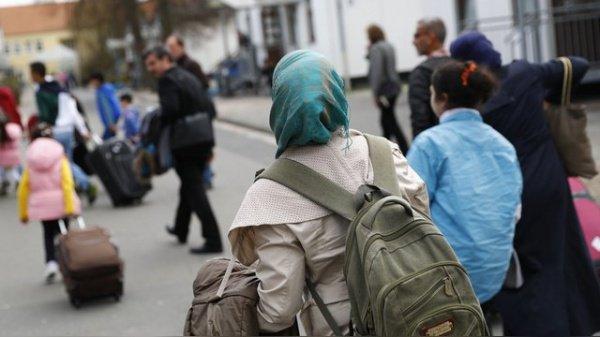Беженцы в Германии.