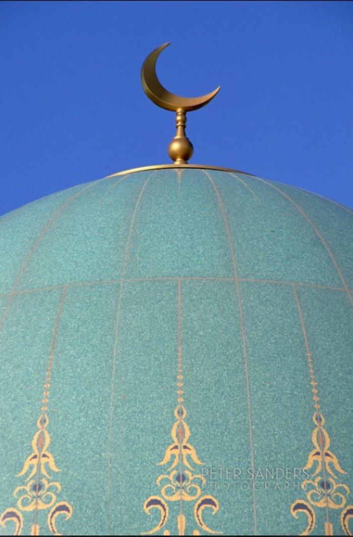 Купол мечети Гёктепе в Ашхабаде.
