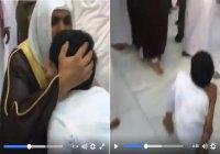 Имам Запретной мечети расцеловал мальчика, который приехал в Умру, несмотря на то, что у него нет ног