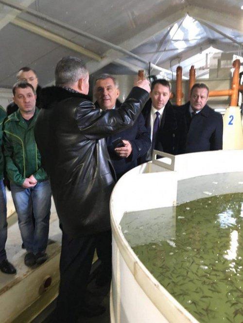 "Рустам Минниханов посетил рыбхоз ""Ушня"""