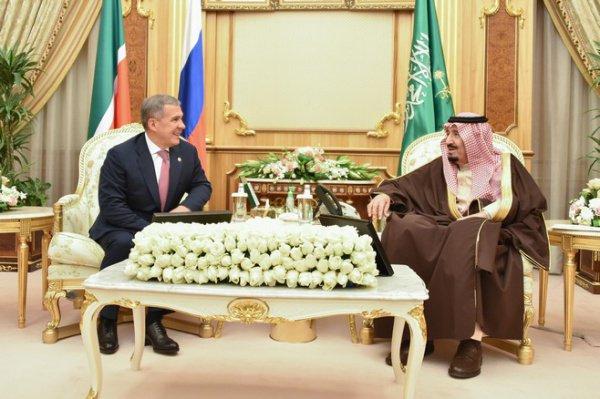 Встреча президента Татарстана с королем Саудовской Аравии.