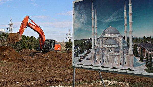 Строительство Соборной мечети Крыма.