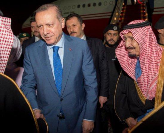 Эрдоган и король Салман.