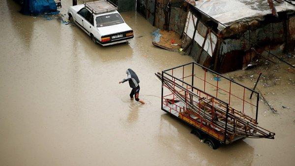 Наводнение в Секторе Газа.