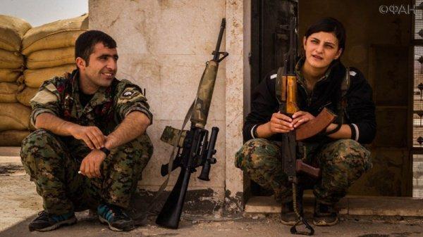 Курдские ополченцы.