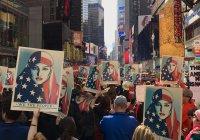 Многотысячный митинг в поддержку мусульман прошел в Нью-Йорке