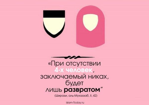 Может ли жених быть свидетелем на своем же никахе?
