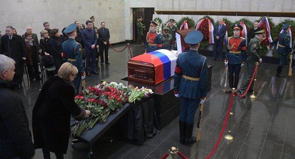 В столице России началось прощание спостпредомРФ вСБ ООН Виталием Чуркиным